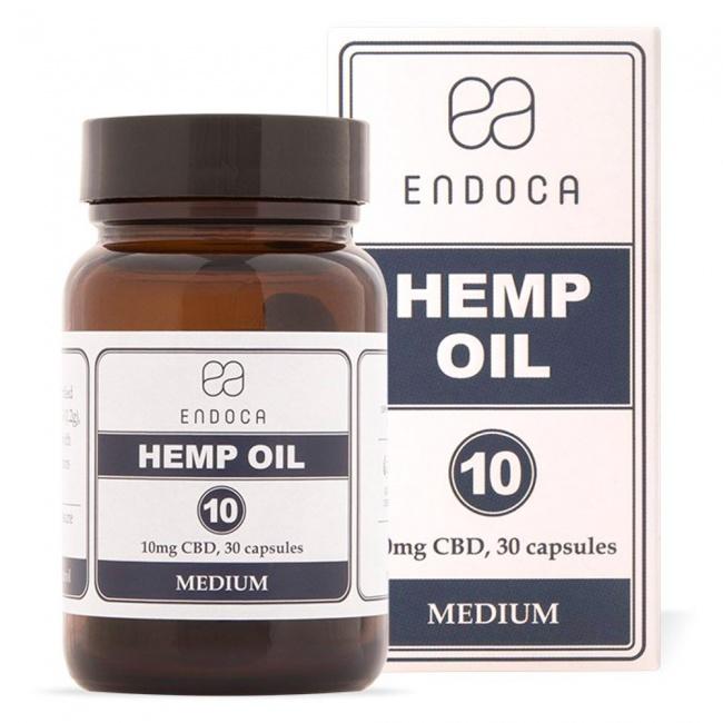 Endoca Κάψουλες Hemp Oil 300mg CBD 30caps των 10mg