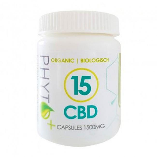 Phyto+ 15% CBD Organic Κάψουλες 1500mg 30Caps των 50mg