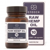 Endoca Κάψουλες RAW Hemp Oil 300mg CBD + CBDa 30caps των 10mg