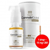 CannabiGold Premium 1500 mg Natural CBD 12ml