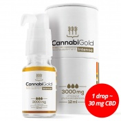 CannabiGold Intense 3000 mg Natural CBD 12ml