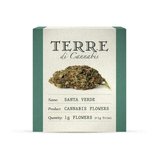 Terre di Cannabis Santa Verde 10% CBD Ανθοί Κάνναβης 1gr