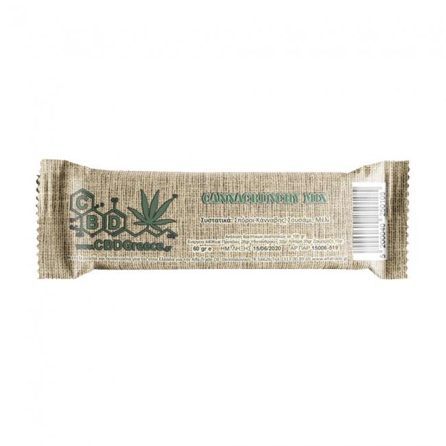 CBDGreece Canna Pastel Chrunchy Mix - Παστέλι με Σπόρους Κάνναβης & Σουσάμι 40gr