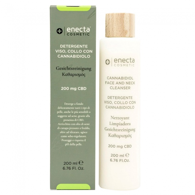 Enecta Face and Neck Cleanser 200mg CBD 200ml