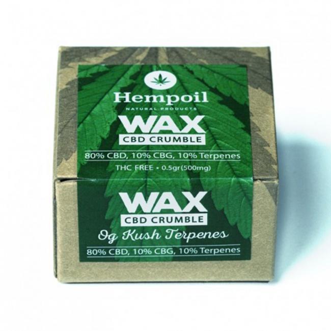 Hempoil Wax CBD Crumble OG Kush Terpenes 500mg