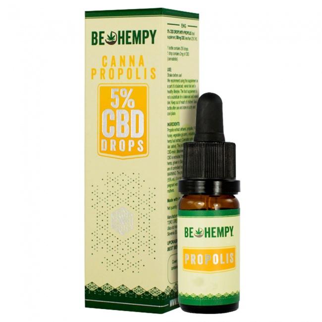 Be Hempy CannaPropolis Hemp Oil Drops 500mg CBD 5% 10ml